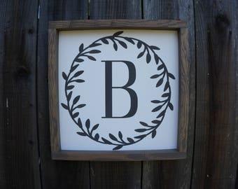 Last Initial Sign - Custom Last Name Sign - Wedding Gift - Wall Decor - Housewarming Gift