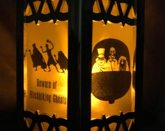 Haunted Mansion Inspired Battery-Operated Plastic Lanterns (Gold Mini)