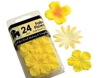 24 3 silk flowers versions yellow tones