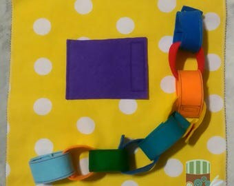 Busy book chain page toddler quiet book felt book