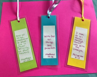 Scripture bookmarks (set of 3)