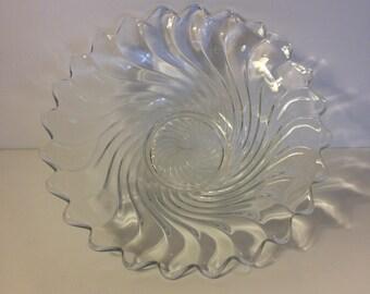 "Fostoria Colony Pattern, 11"" Flared Centerpiece Console Bowl"