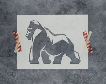 Gorilla Stencil - Reusable DIY Craft Stencils of a Gorilla