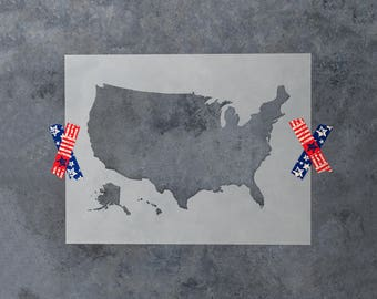 United States Map Stencil - Reusable DIY Craft Stencils of a United States Map