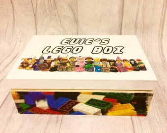 LEGO personalised mini figures/bricks box