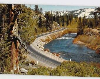 Los Angeles California CA 1956 Cadillac Dealership Along Hwy 40 Postcard