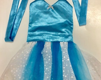 ELSA & ANNA COSTUME Combo | Elsa Dress | Princess Anna Dress | Elsa and Anna Dresses Toddler | Frozen Birthday Party | Princess Costume