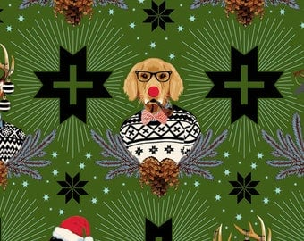 Free Spirit - Holiday Homies by Tula Pink - Green Homies - Holiday / Christmas