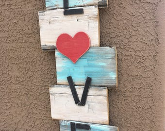 """Old Wood Hand painted """"Love"""" Wall Hanging"""