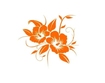 stickers for car or any other media hibiscus