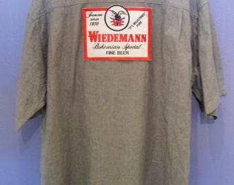 Wiedemann Men's Button Down Beer Shirt Size XL