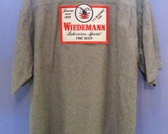 Men's Wiedemann Button-down Beer Shirt Size XL