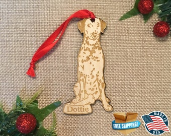 Dalmatian Christmas Ornament *** Personalized Dog Ornament  ***Dog Lover Gift *** Christmas Holiday Ornament ***