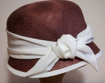 Straw Cloche, Vintage Style Hat