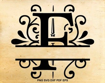 Monogram alphabet font, Split Monogram svg, Split letter svg, Split monogram alphabet avg, Cut files for Cricut, Files for Silhouette Cameo
