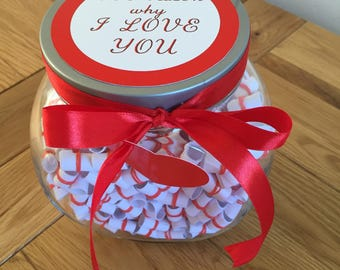 365 reasons Why I LOVE YOU jar Valentines Day Anniversary Christmas gift