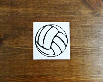 Volleyball Vinyl Decal - Choose Your Color and Size