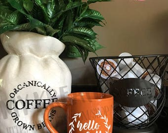 Hello Fall - Coffee Mug Decal