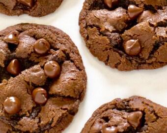 Doble Chocolate chunk cookies/homemade/gourmet/Christmas cookies/cookies/home made cookies/home made/home made cookies/doble chocolate chip