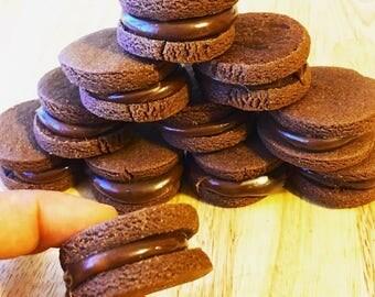 Brigacookie/ chocolate cookie/brigadeiro/cookie/cookies for santa/chocolate/Christmas cookies/cookies/home made cookies/home made/ sandwiche