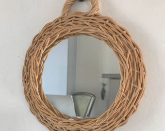 French rattan mirror