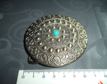 width from 6 cm with a turquoise Pearl copper colored metal belt buckle
