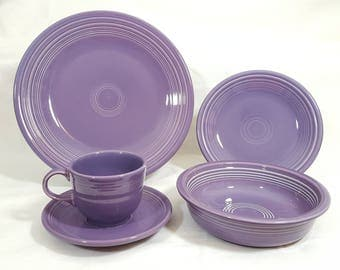 Fiesta Lilac 5 Piece Place Setting #3