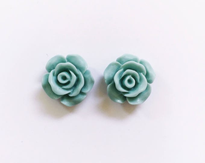 The 'Minty Fresh' Flower Earring Studs