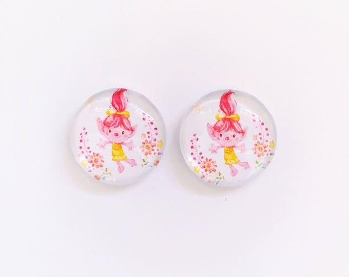 The 'Trolls' Glass Earring Studs