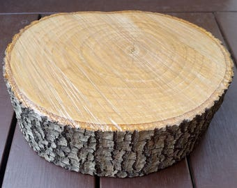 Rustic Wood Slice, Rustic Wedding Table Centrepiece, Wooden Cake Stand