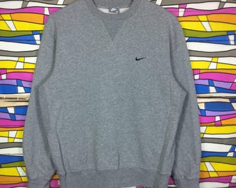 Rare!! Vintage Nike Sweatshirt Small logo Medium Size