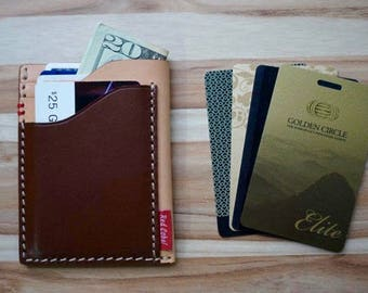 Multiple Leather Pockets Cards Holder; Italian Leather; Mens; Unisex; Gift Season! Free Personal Monogram! Dual Colors