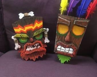 Special Aku Aku AND Uka Uka Crash Bandicoot inspired mask  bundle deal!