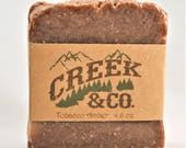 Tobacco Amber soap, hot process soap, manly soap, rustic soap, handcrafted soap, kitchen soap, shower soap, homemade soap, artisan soap