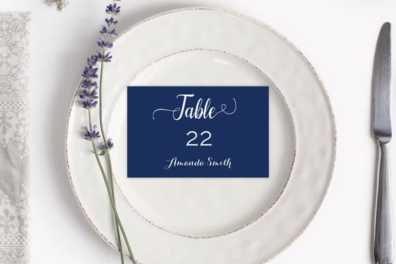 Navy Place Card Printable