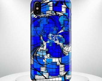 iPhone X Case Blue Abstract Design Phone case   iPhone 8 Case iPhone 8 PLUS Case iPhone 10 Case iPhone 7 Case iPhone 7 plus Case Gift