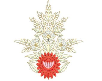 Flower Embroidery Design - 2 Sizes, machine embroidery flower design,paadar club