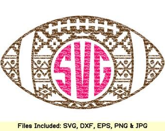 Aztec Football svg files for cricut silhouette mom helmet shirt tribal boho mug vinyl circle monogram svg designs decal clipart dxf cut file