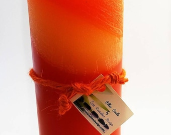 Layered Orange Scented Pillar