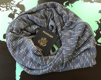 Travel with Care - Hidden Zipper Pocket Travel Scarf