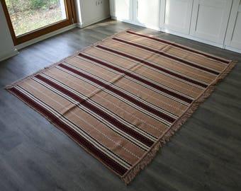 Wolldecke,carpet,kilim rug,Bettüberwurf,Tagesdecke 204x161
