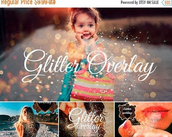 ON SALE Photoshop Overlay Blowing Glitter Overlays Confetti Photo layer blow magic Wedding Gold Falling glitter Photography confetti effect
