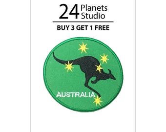 Australia Kangaroo Iron on Patch by 24PlanetsStudio