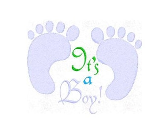 Birth Announcement Its a Boy Machine Embroidery Design Pattern File - Fits 4x4 Hoop - MULTIPLE FORMATS- Instant Download
