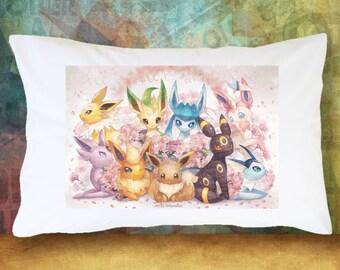 EEVEE Pokemon Pillow Case Decoration Extra Soft & Cute Bedding Pokemon Go Leafeon Flareon Umbreon Jolteon Espeon Glaceon Vaporeon Sylveon