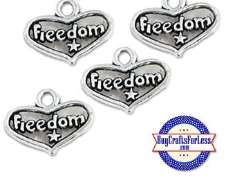 USA Freedom, USA Patriotic Charms  +FREE Shipping & Discounts*