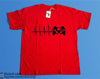 Gamer Heartbeat Vinyl Shirt - FREE SHIPPING