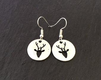 Cute reindeer earrings / reindeer jewellery / Christmas earrings / Christmas jewellery / Christmas gift / animal lover gift
