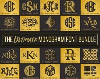 Monogram Fonts SVG Font Bundle Svg Files For Cricut Svg Monogram Fonts for Silhouette Dxf Fonts Download Svg Monogram Letters svg Initials