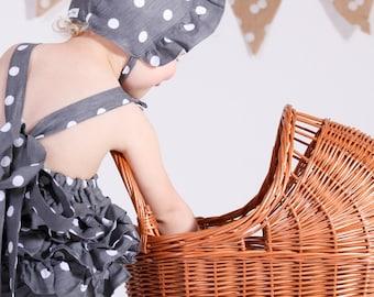 Bonnet, Baby Bonnet, Vintage Bonnet, Reversible Bonnet, Baby hat, Girls hat, Vintage baby clothes, Vintage girl clothes, Baby, Girl, Kid Hat